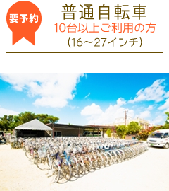 竹富島レンタサイクル普通自転車10台以上