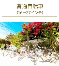 竹富島レンタサイクル普通自転車
